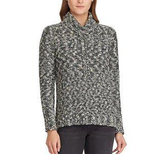 CHAPS Lurex Marled Metallic Cowl-Neck Sweater 2XL